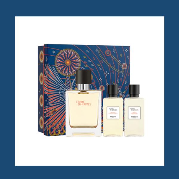 是躺在男神怀里的味道!爱马仕大地Terre d'Hermès经典款edt香水礼盒