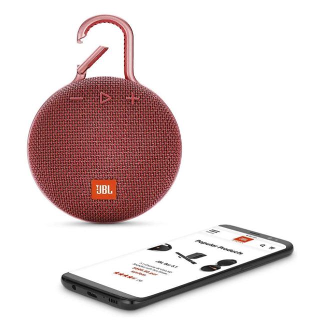 自带BGM!JBL CLIP 3 便携式蓝牙音箱