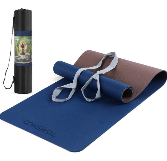 在家也能轻松运动!瑜伽垫组合(包括普拉提操带)