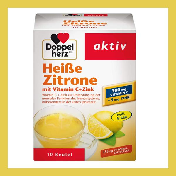 双心Doppelherz Heiße Zitrone柠檬维生素C+锌热饮冲剂 10袋装