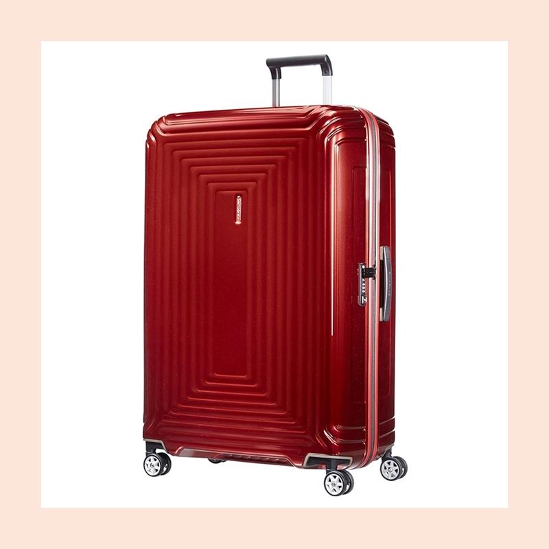 你需要一款耐用结实有好看的旅行箱!Samsonite 新秀丽金属红色旅行箱