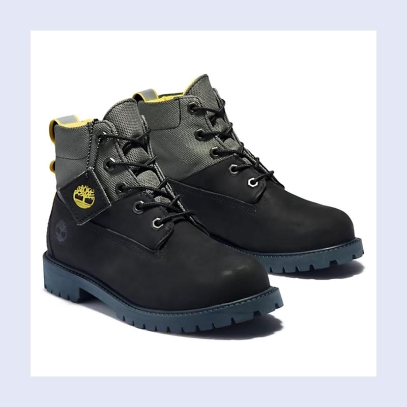 冬天脚部保暖很重要!Timberland 六英寸黑色靴子