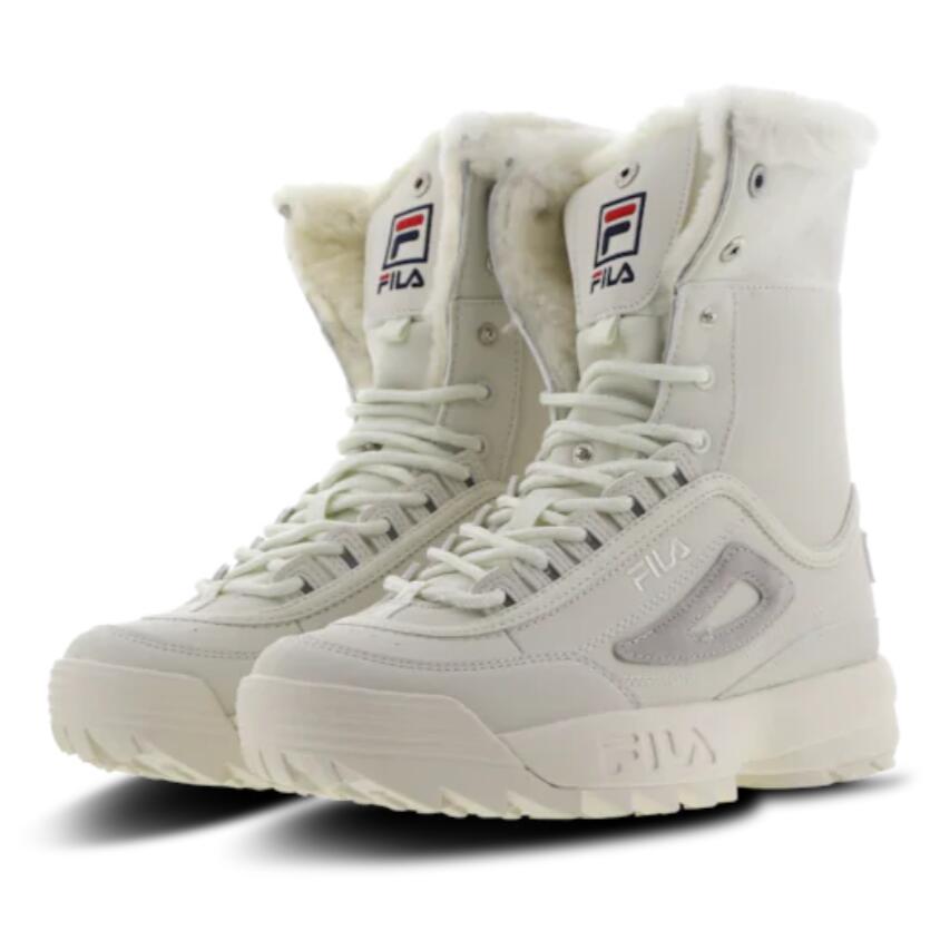 听说今年冬天特别冷 提前把过冬的鞋准备好吧~Fila毛绒内衬女士运动靴