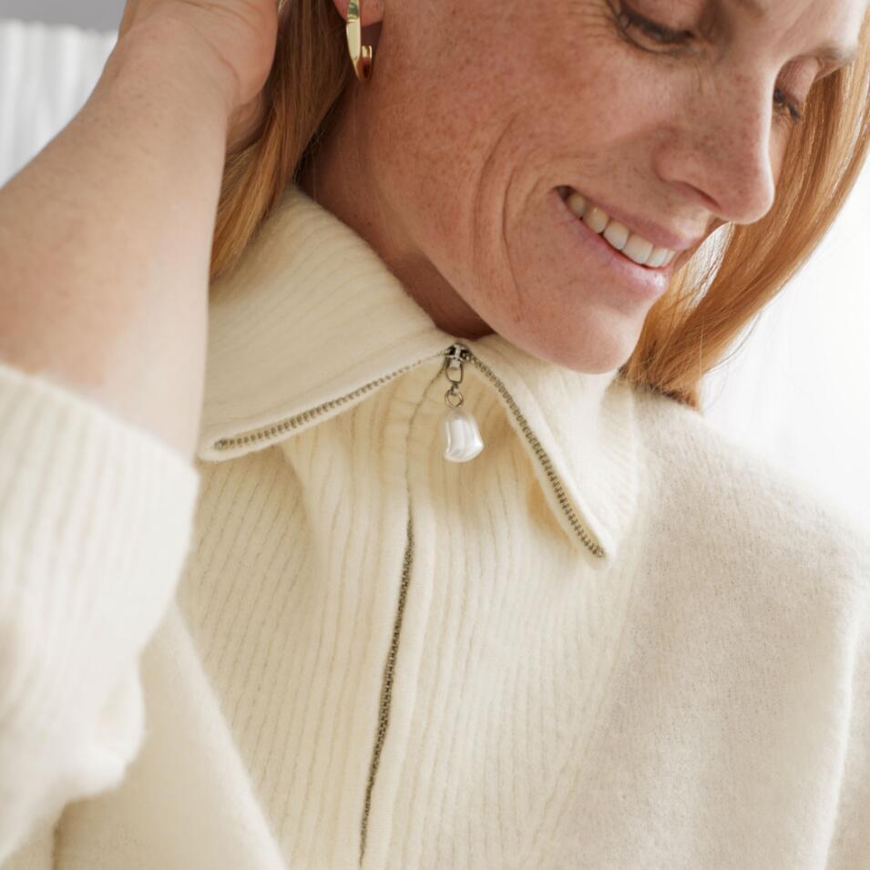 天气冷了就是要穿得毛茸茸~&other stories超软糯奶油色套头针织衫