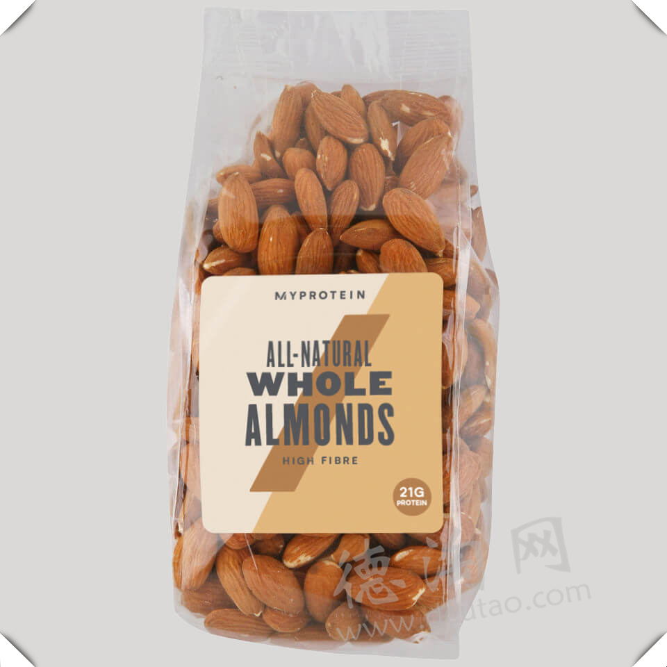 富含营养的小零食~干果类杏仁,高蛋白增肌必备!