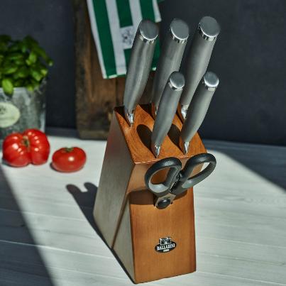 意大利优质厨具!BALLARINI TANARO刀具7件套