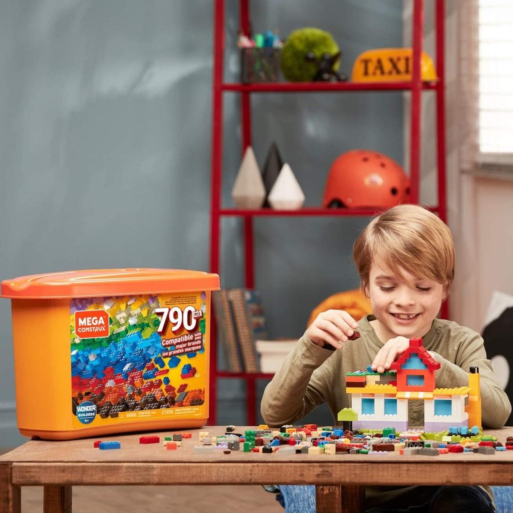 MEGA儿童积木,用创意和想象来构造孩子们自己的城堡!