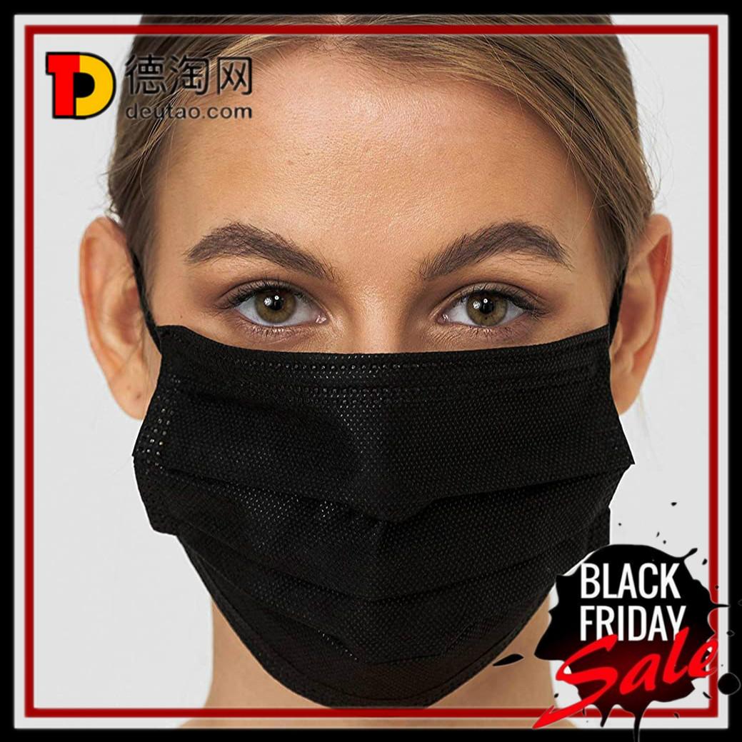 又A又酷的黑色口罩 亚马逊自营黑色口罩 30只装