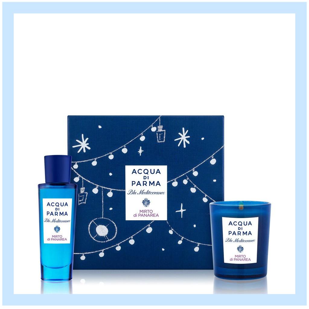 【神仙霸哥定价!】Acqua di Parma/帕尔玛之水 蓝色地中海-桃金娘加州桂圣诞限定套组