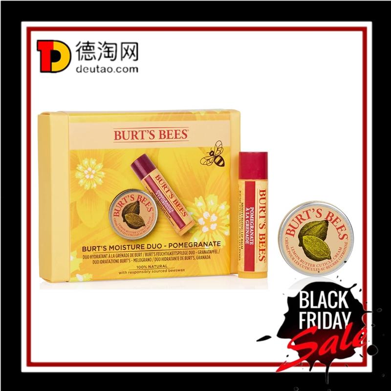 送礼自用都超棒的护唇护甲套装!Burt's Bees 柠檬油护甲霜/唇膏套装