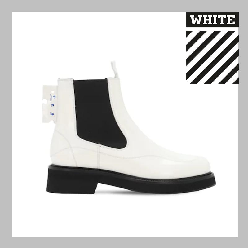 【直邮中国】Off-White 酷感十足白色切尔西靴!