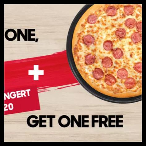 第二只不是半价,是1欧!Pizza Hut 必胜客买1送1优惠券