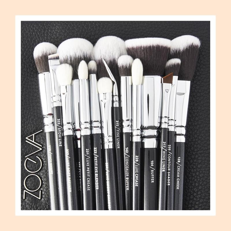 专业彩妆师手中的美妆利器!Zoeva 专业级别面部彩妆刷具十五件套