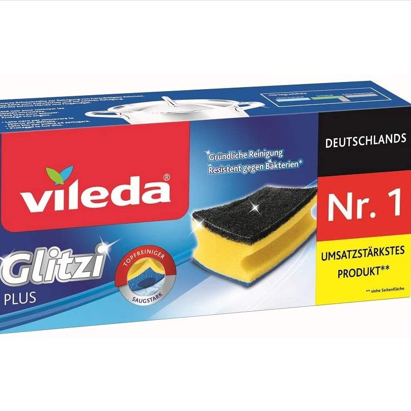?清洁海绵都这么多讲究?三件装Vileda Glitzi Plus双面清洁海绵