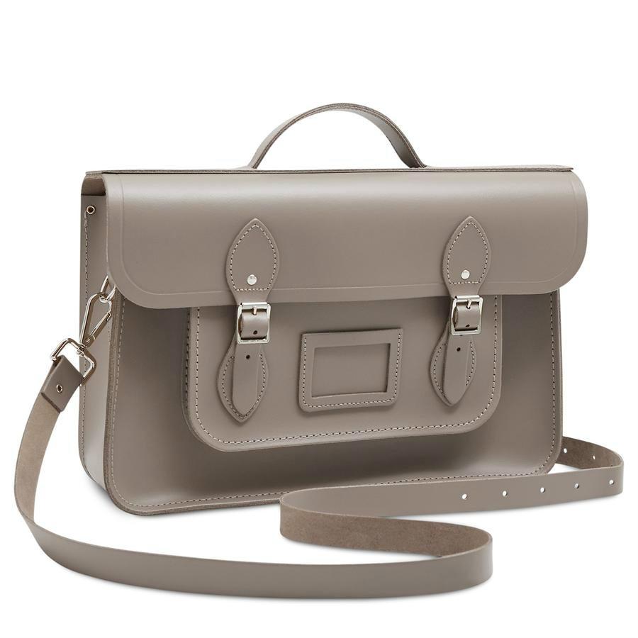 气质书包通勤包 The cambridge satchel Classic Batchel 奶灰色