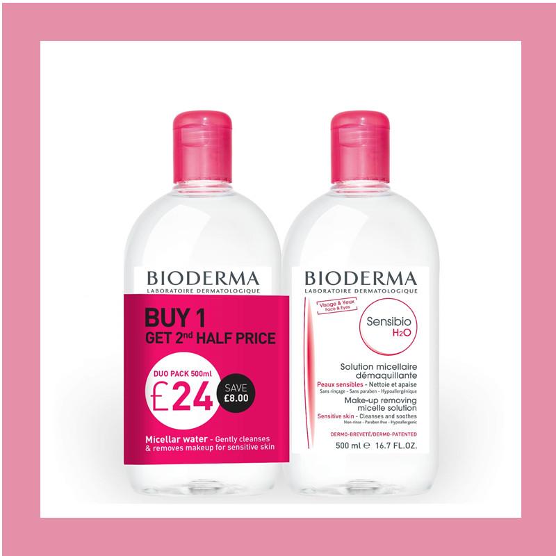 法国贝德玛Bioderma 温和卸妆水 粉色款500ml*2瓶装
