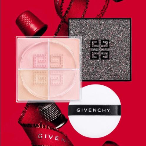 解锁蔷薇少女妆感!Givenchy纪梵希2020圣诞限定四宫格散粉#3号色