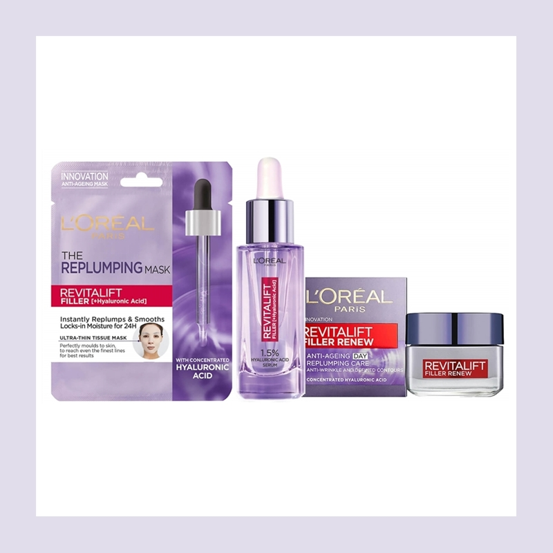 肌肤弹润消减皱纹的Q弹魔法!L'Oréal 巴黎欧莱雅玻尿酸系列套装