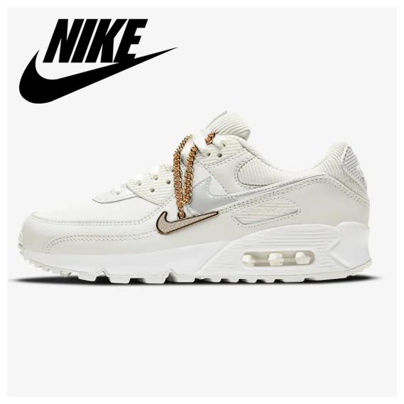 Nike Air Max 90 纯白女士运动鞋