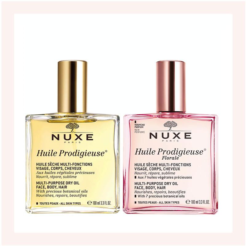 法式护肤的鎏金肌密!NUXE/欧树  高颜值万能油*2瓶装