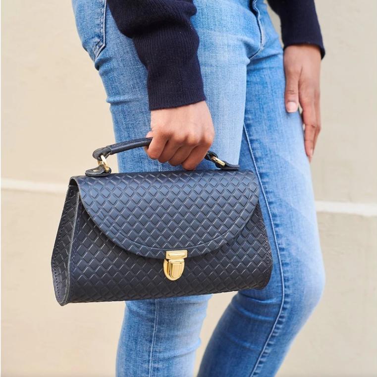 优雅气质 The cambridge satchel 菱格纹poppy bag