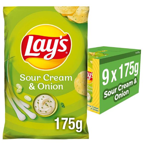 Lay's Sour Cream & Onion乐事酸奶油洋葱味薯片,永远滴神!