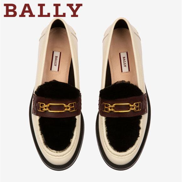 带绒绒的Bally乐福鞋Elodie