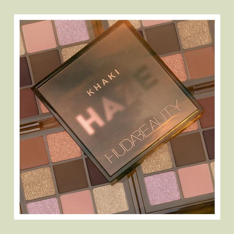 橄榄金棕打造诱人眼妆!Huda Beauty 薄雾痴迷系列九色眼影盘#Khaki
