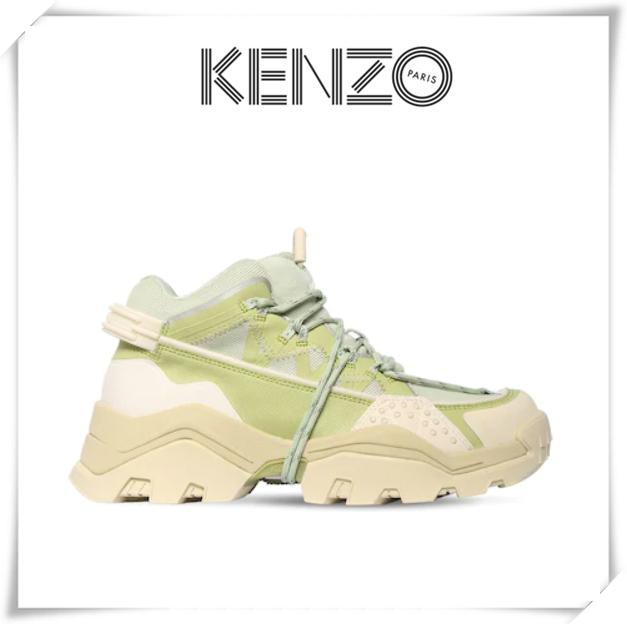 新年一来,就开始等待春天!kenzo复古运动鞋抹茶绿色