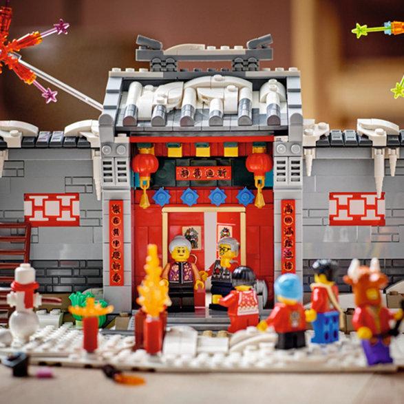 让乐高陪你过年!LEGO乐高春节舞狮套装