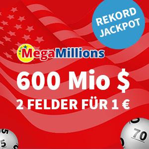 上期头奖落空,本期头奖已加码到6亿美元!来自美国的MegaMillions彩票带你圆梦亿万富翁!