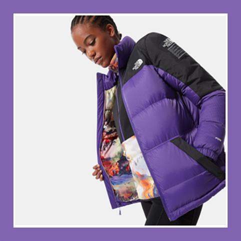冬日里那一抹心动的颜色💜The North Face 北脸羽绒服紫色款 原价280欧,