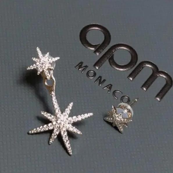 APM monaco经典六芒星,不对称耳环