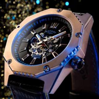 高智商代表瑞士劳特来Rotary手表