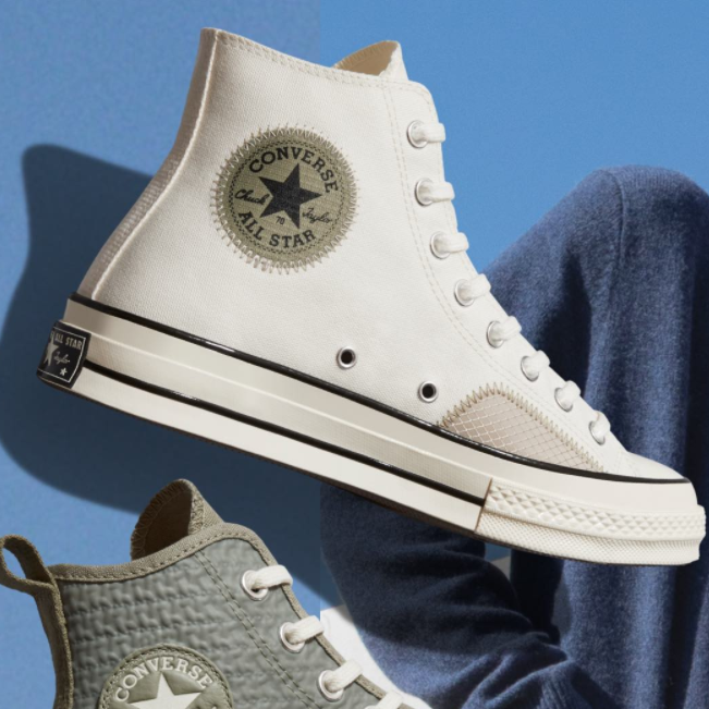 一年四季的必备板鞋Converse!