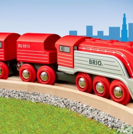 小小火车迷看过来!Brio木质火车玩具