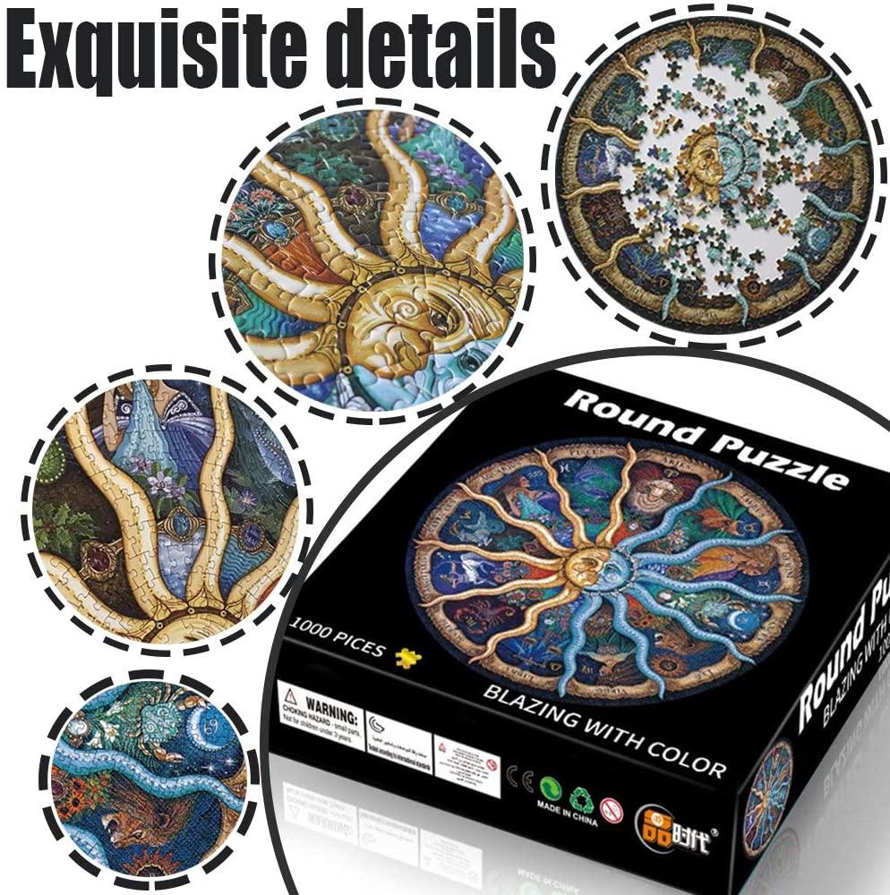 有趣又彰显格调~圆形1000块智力拼图,多种图案可选!