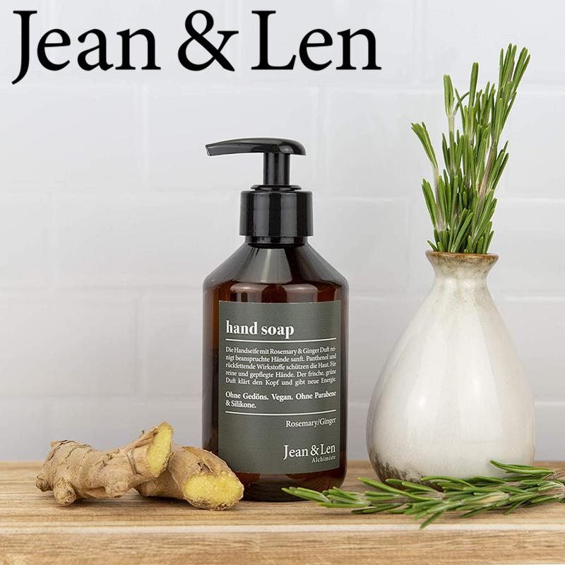 最优质的产品配合最好的成分 Jean & Len迷迭香和生姜洗手液