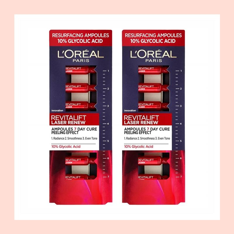 温和去角质提亮肤色!L'Oreal Paris 欧莱雅复颜光学嫩肤安瓶*2盒装