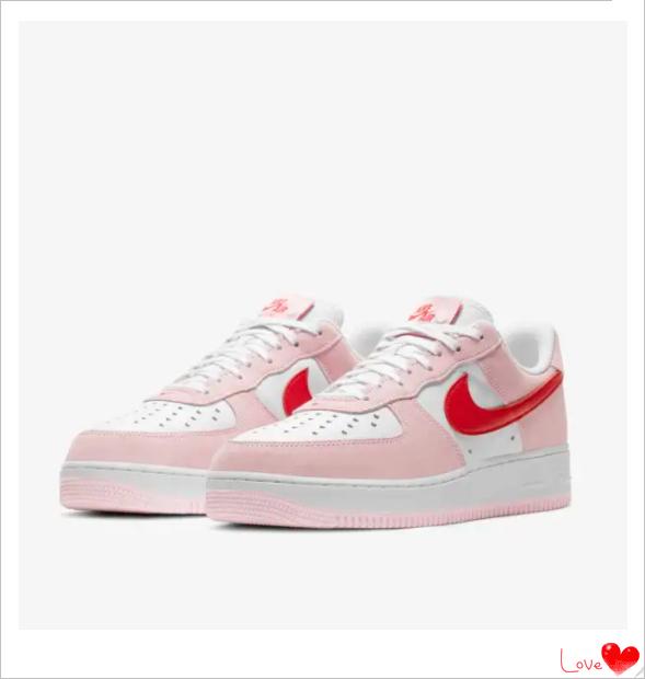 情人节限定!Nike空军一号领衔起跑~粉红配色超亮眼!