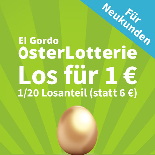 复活节来试试手气吧~El Gordo OsterLotterie 西班牙大胖子复活节特别版