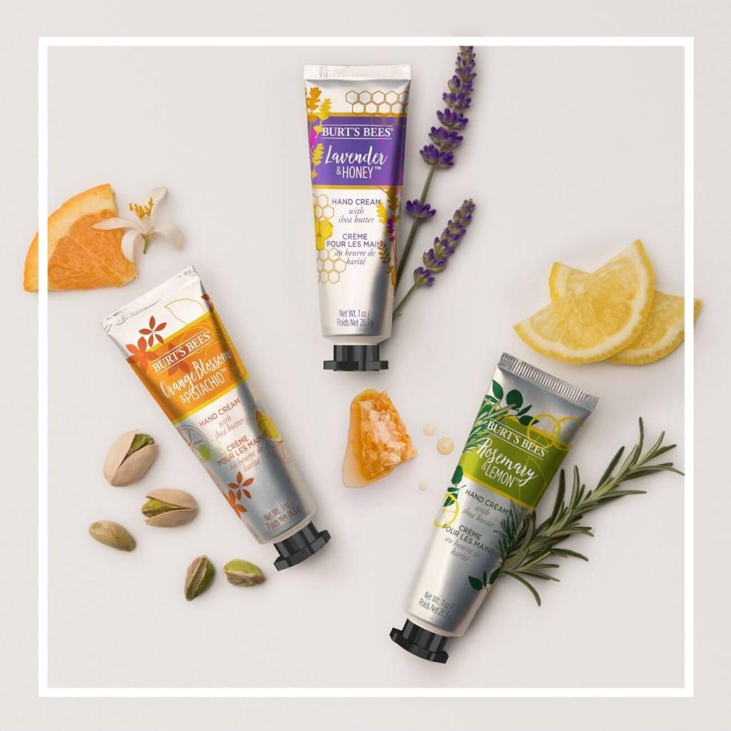 纯天然植物萃取带给你一整天的舒适!Burt's Bees 植物萃取护手霜三件套