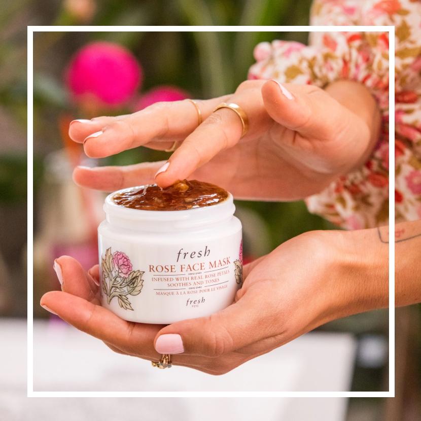 将天然玫瑰花瓣融入肌肤!Fresh 馥蕾诗玫瑰保湿面膜#100ml限定版