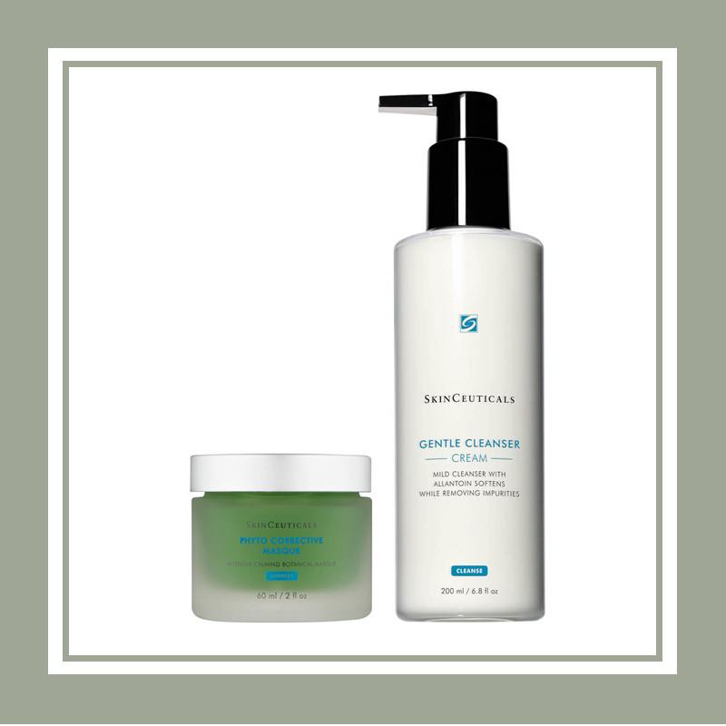 你要的奇迹色修面膜!SkinCeuticals/修丽可 植萃舒缓修护精华面膜&洁面套装