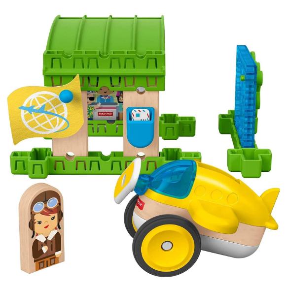 Fisher-Price GLM43 奇迹工匠飞机馆木质玩具套装