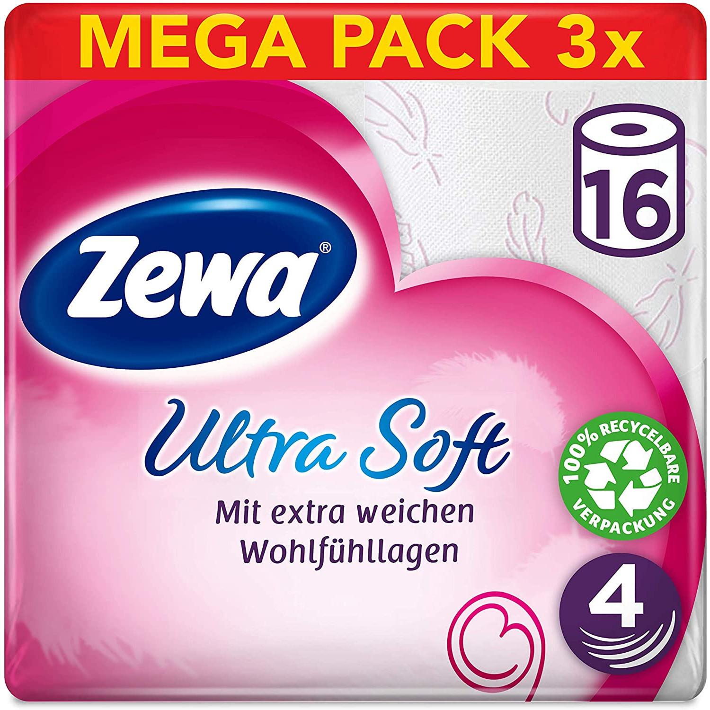 好价速囤!Zewa ultra soft 3×16卷装大包厕纸
