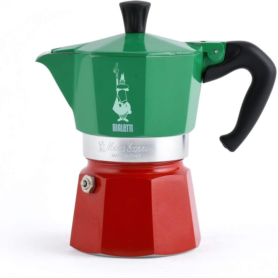 来一杯香浓的意式浓缩咖啡吧 Bialetti意大利国旗三色摩卡壶