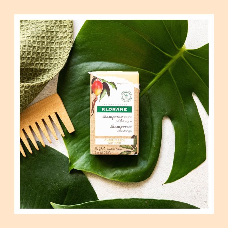 滋养发丝的同时又方便使用!Klorane 康如芒果味固体洗发皂