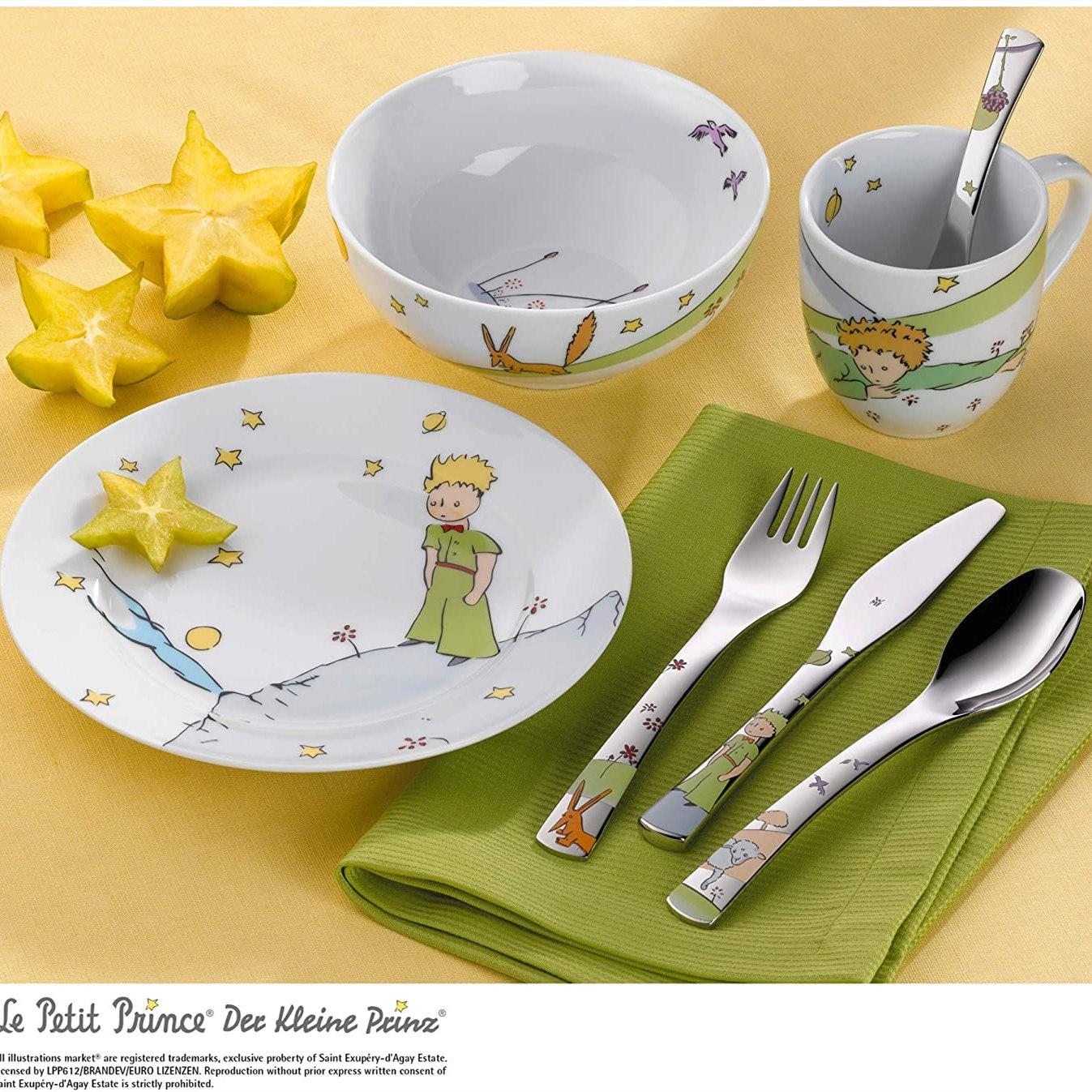 太可了!WMF小王子不锈钢儿童餐具4件组,小狐狸们一定不能错过!