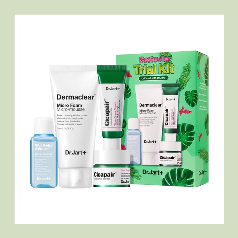 修复细胞提供肌肤新生力!Dr.Jart+ 积雪草/老虎草明星四件套装